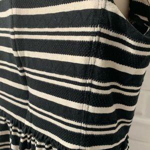 J. Crew Dresses - J. Crew Cream and Black Striped Knit Dress